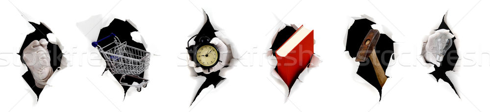 concept of different breakthrough on white Stock photo © pterwort