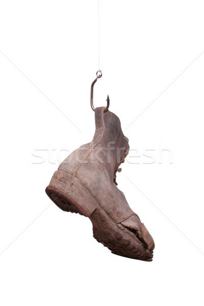 old boot on fishhook Stock photo © pterwort