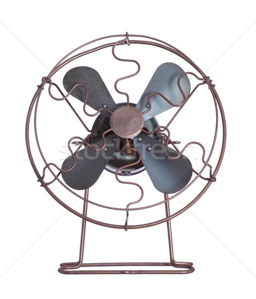 Velho resfriamento ventilador preto branco eletricidade Foto stock © pterwort