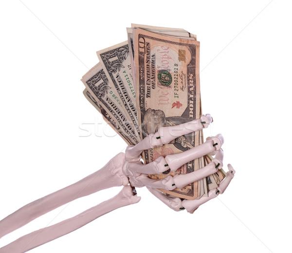 долларов скелет стороны деньги бумаги Palm Сток-фото © pterwort