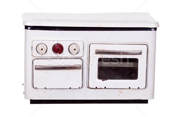 Oude kachel home metaal retro kok Stockfoto © pterwort