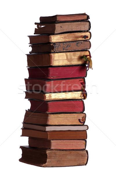 Сток-фото: старые · книгах · красный