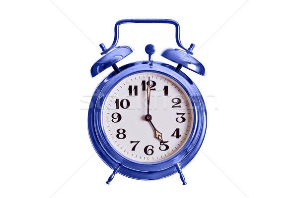 Velho azul alarme sino relógio metal Foto stock © pterwort