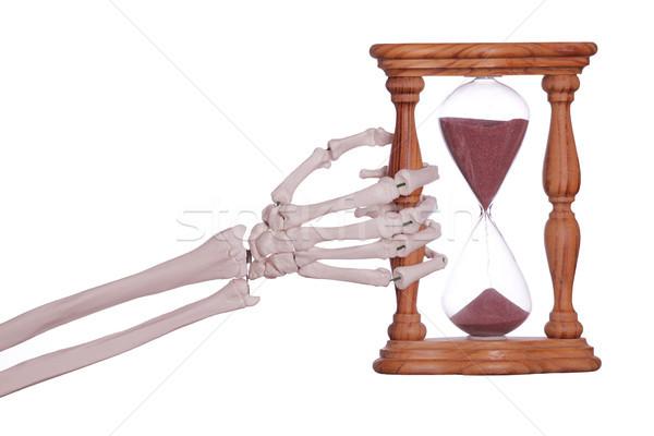 Squelette main sable timer éducation Photo stock © pterwort