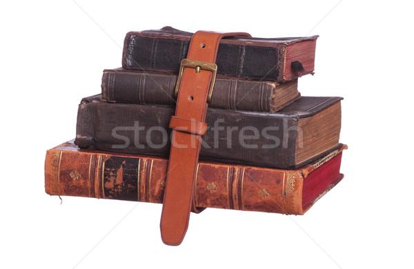 Starej książki pasa papieru książki szkoły Zdjęcia stock © pterwort