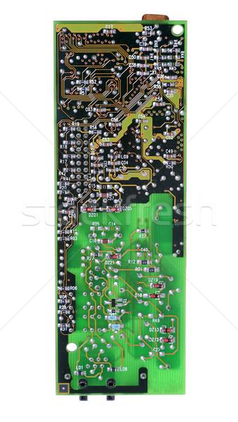Lado placa-mãe digital padrão eletricidade dados Foto stock © pterwort