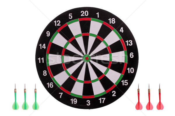 dart board with arrows Stock photo © pterwort