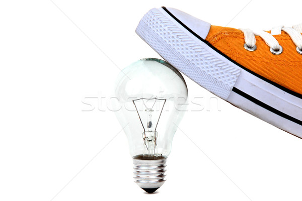лампа лампы желтый свет стекла фон Сток-фото © pterwort