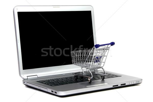 laptop and shoppingcart Stock photo © pterwort