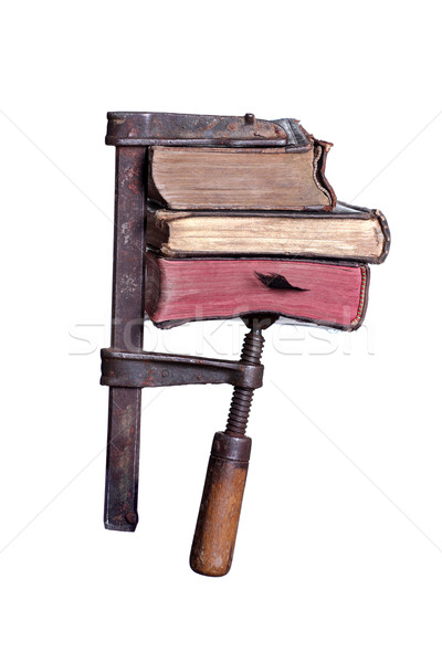 clamp with old books Stock photo © pterwort