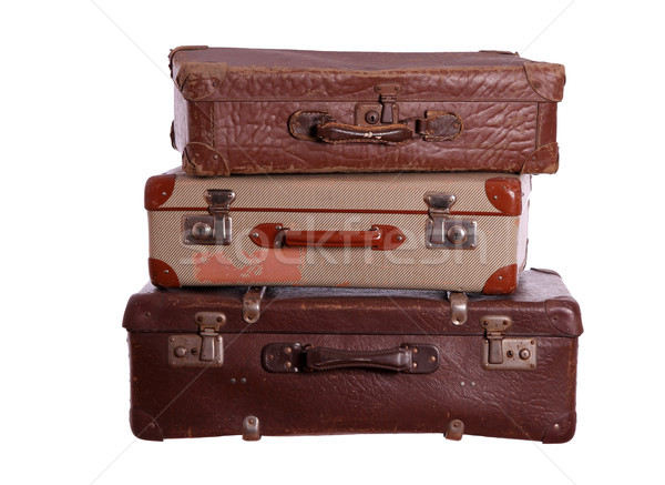 stack of old suitcases Stock photo © pterwort