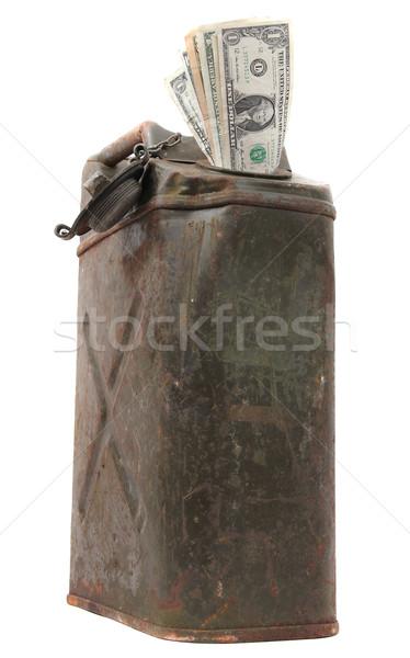 öreg dollár jegyzetek bank acél Euro Stock fotó © pterwort