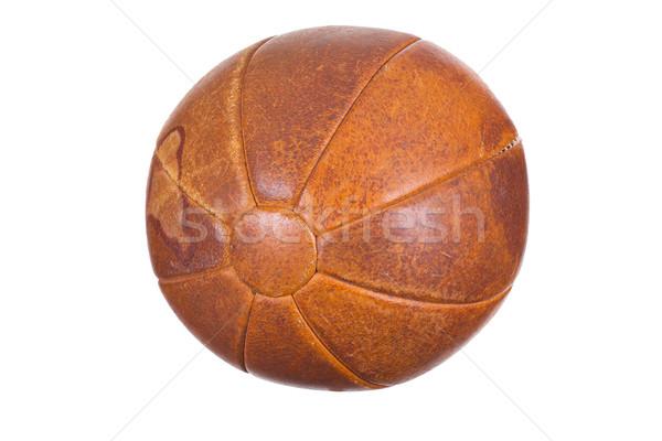 старые медицина мяча текстуры футбола спортивных Сток-фото © pterwort