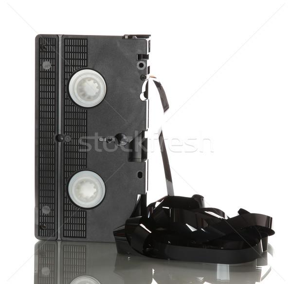 Uszkodzony wstążka telewizji film tle film Zdjęcia stock © pterwort