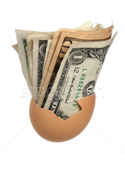 Banco notas cáscara de huevo blanco nota dólar Foto stock © pterwort