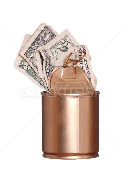 Dorado pueden dólares negocios metal seguridad Foto stock © pterwort