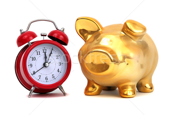 alarm bell and golden piggy bank Stock photo © pterwort