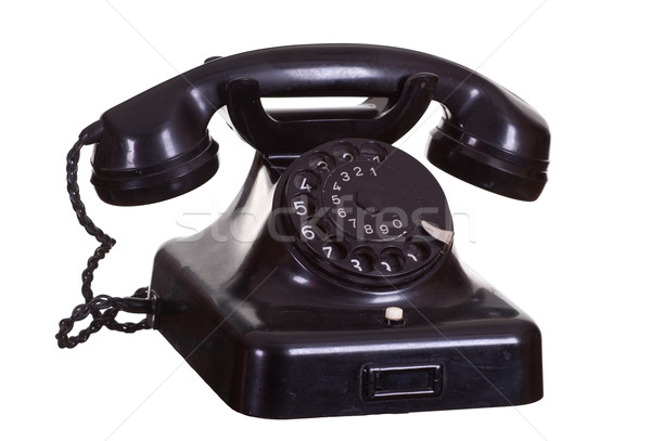Velho preto telefone escritório tecnologia contato Foto stock © pterwort