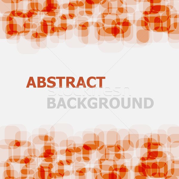 Abstract orange rounded rectangle overlapping background Stock photo © punsayaporn