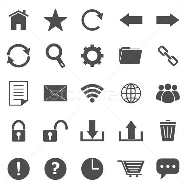 Stock photo: Tool bar icons on white background