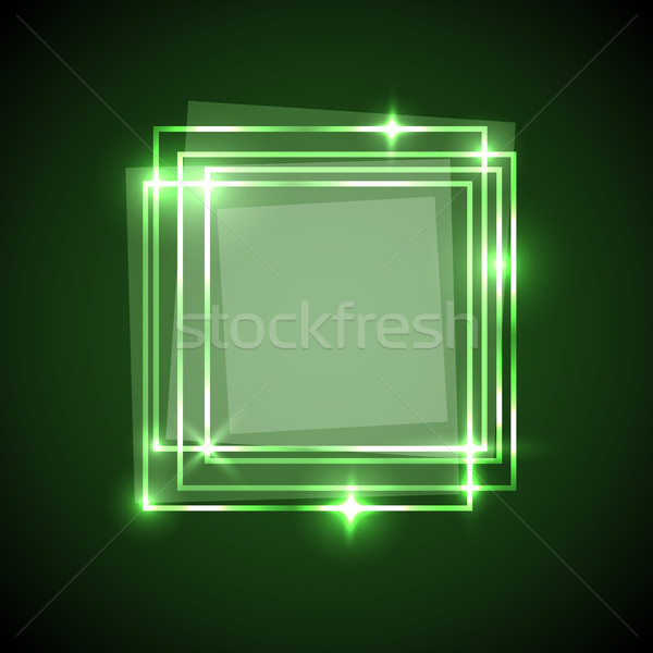 Abstract groene pleinen banner voorraad vector Stockfoto © punsayaporn