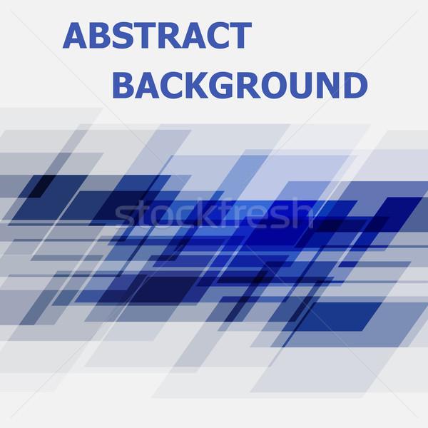 Abstract Blauw meetkundig ontwerp voorraad vector Stockfoto © punsayaporn