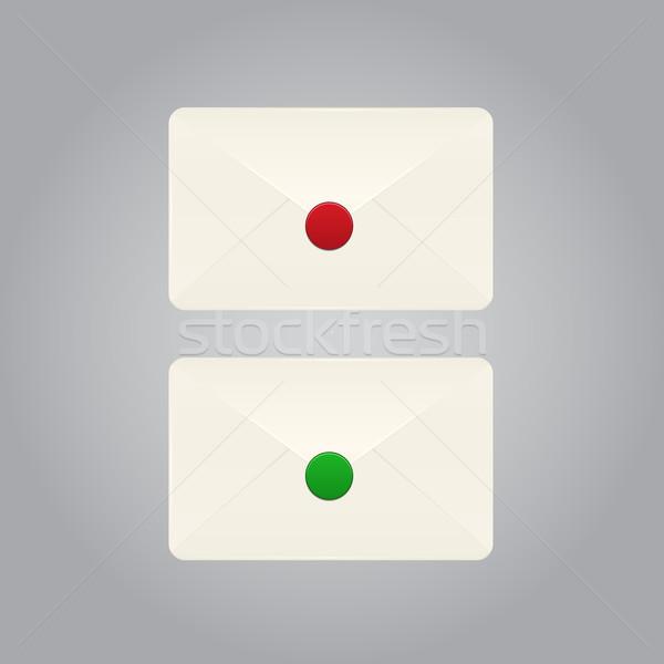 Set of vector envelopes  Stock photo © punsayaporn