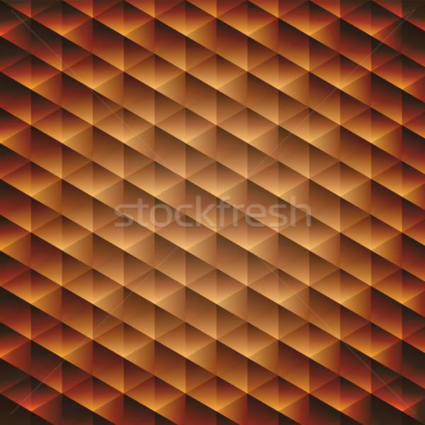 Gold gradient geometric cubic background Stock photo © punsayaporn