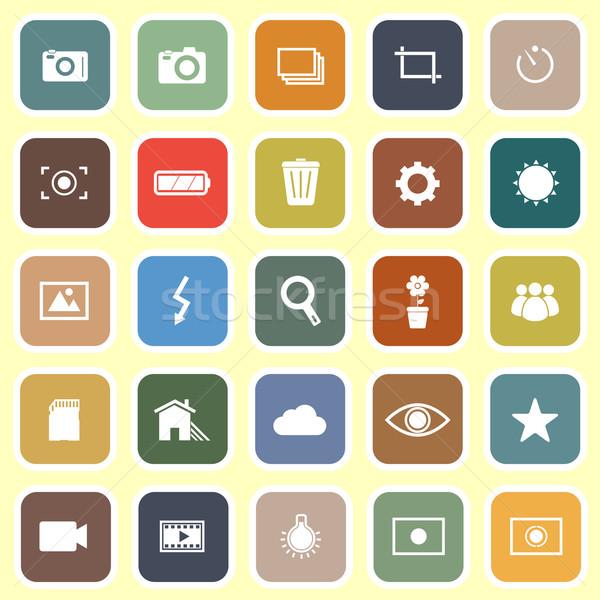 Fotografie iconen licht voorraad vector teken Stockfoto © punsayaporn