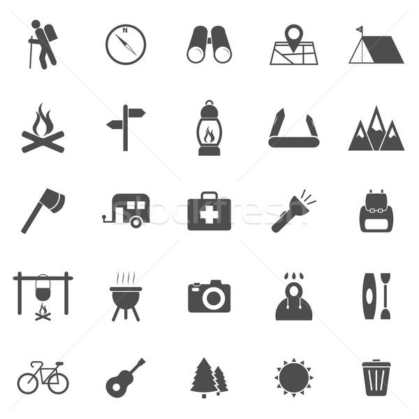 Trekking icons on white background Stock photo © punsayaporn