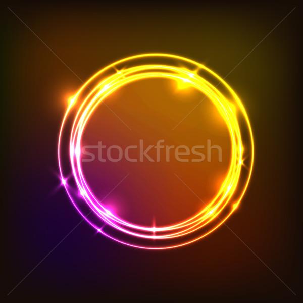 Abstract kleurrijk cirkels neon voorraad vector Stockfoto © punsayaporn