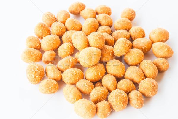 пряный арахис изолированный белый текстуры Сток-фото © punsayaporn