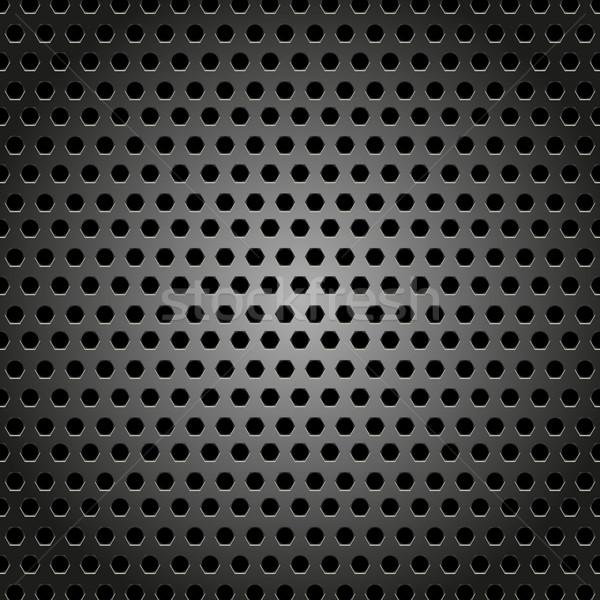 抽象的な 金属 デザイン パターン 六角形 コンピュータ ストックフォト © punsayaporn