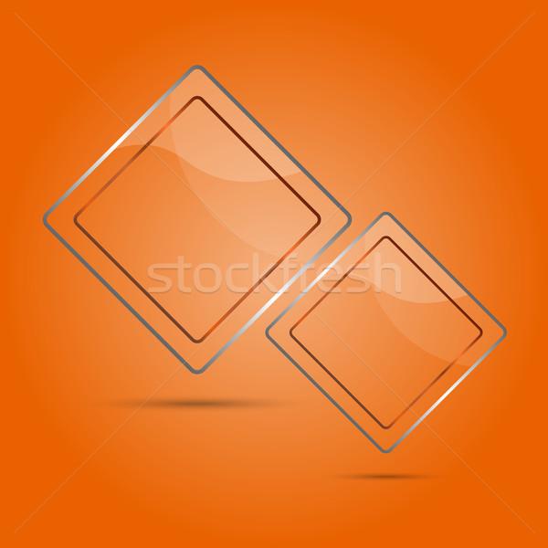 Abstract glas paneel exemplaar ruimte oranje business Stockfoto © punsayaporn