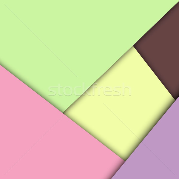 Colorful overlap layer paper material design Stock photo © punsayaporn