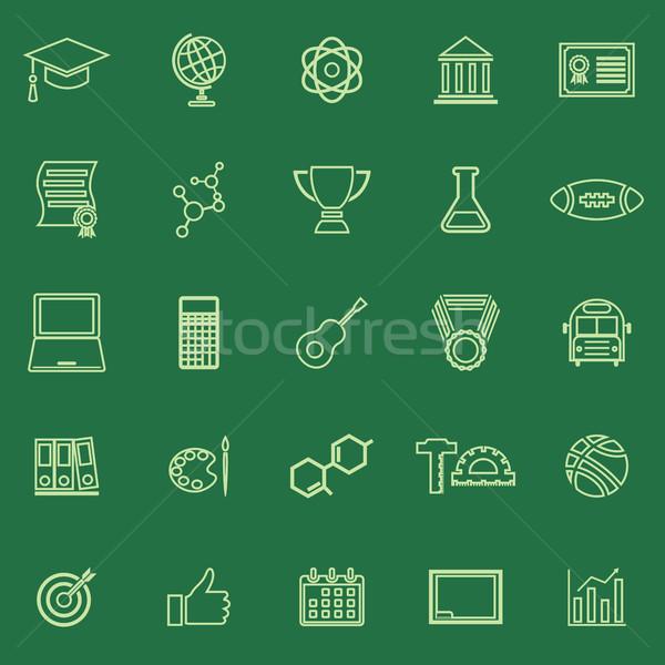 College line colore icone verde stock Foto d'archivio © punsayaporn