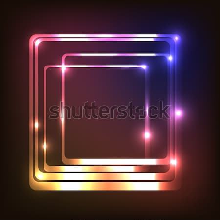 Abstract glowing background with rounded rectangle Stock photo © punsayaporn