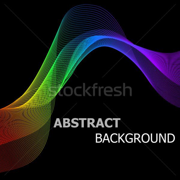 Absztrakt színes vonalak hullám stock vektor Stock fotó © punsayaporn