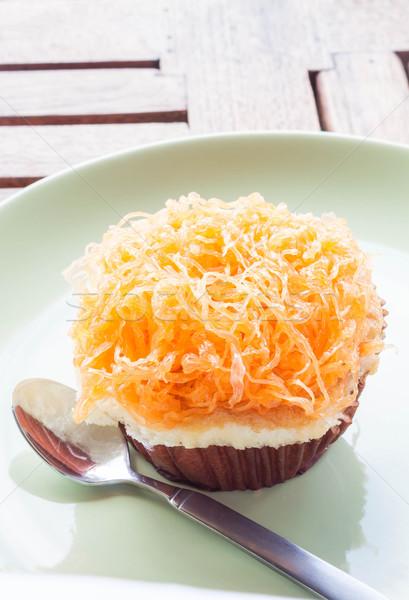 Altın yumurta yumurta sarısı iplik fincan kek Stok fotoğraf © punsayaporn
