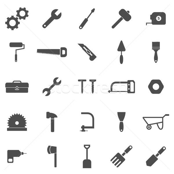 Tool icons on white background Stock photo © punsayaporn