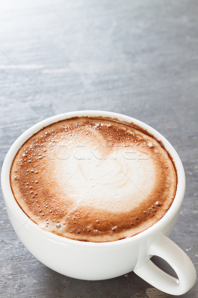 Taza de café gris stock foto negocios alimentos Foto stock © punsayaporn