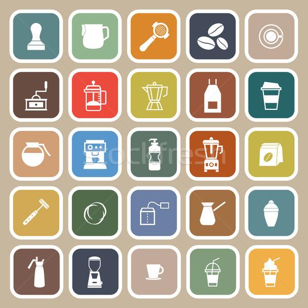 Barista icono marrón stock vector tienda Foto stock © punsayaporn