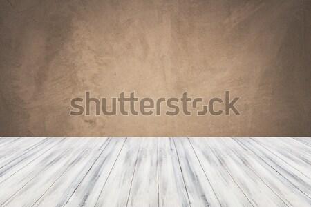 Vazio branco tabela topo concreto parede Foto stock © punsayaporn