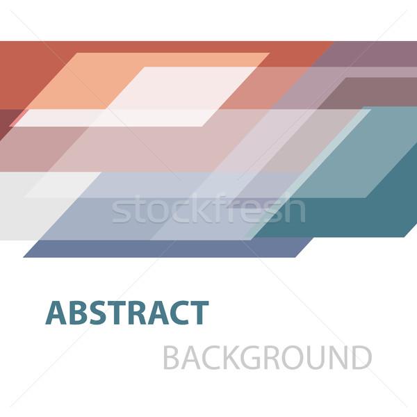 Soyut renkli geometrik stok vektör iş Stok fotoğraf © punsayaporn
