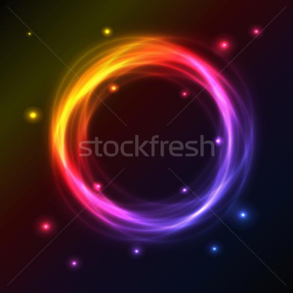 Absztrakt színes plazma kör hatás fény Stock fotó © punsayaporn