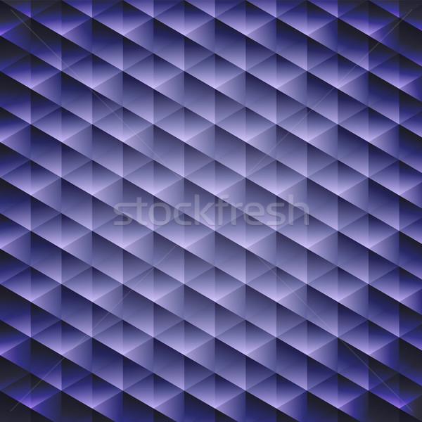 Dark blue geometric cubic background, Stock photo © punsayaporn