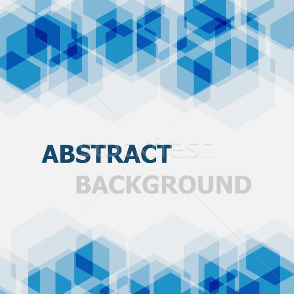 Abstrato azul hexágono estoque vetor textura Foto stock © punsayaporn