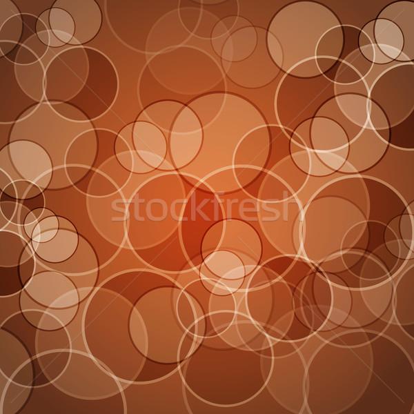 Abstract oranje cirkels voorraad vector achtergrond Stockfoto © punsayaporn