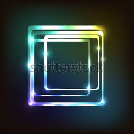 Abstract colorful with rounded rectangle Stock photo © punsayaporn