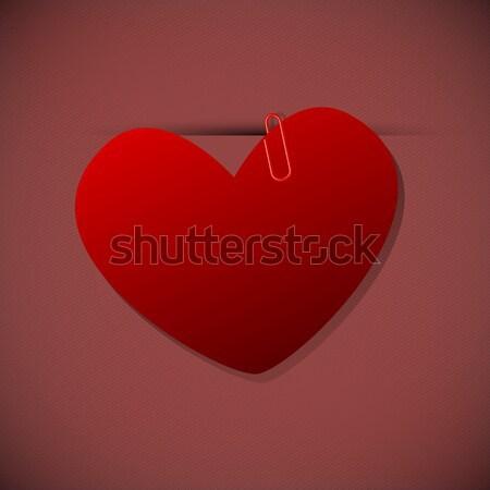 Kształt serca papieru spinacz biuro serca podpisania Zdjęcia stock © punsayaporn